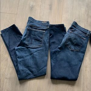 4 Pair Altered Jeans 29/30 Lot